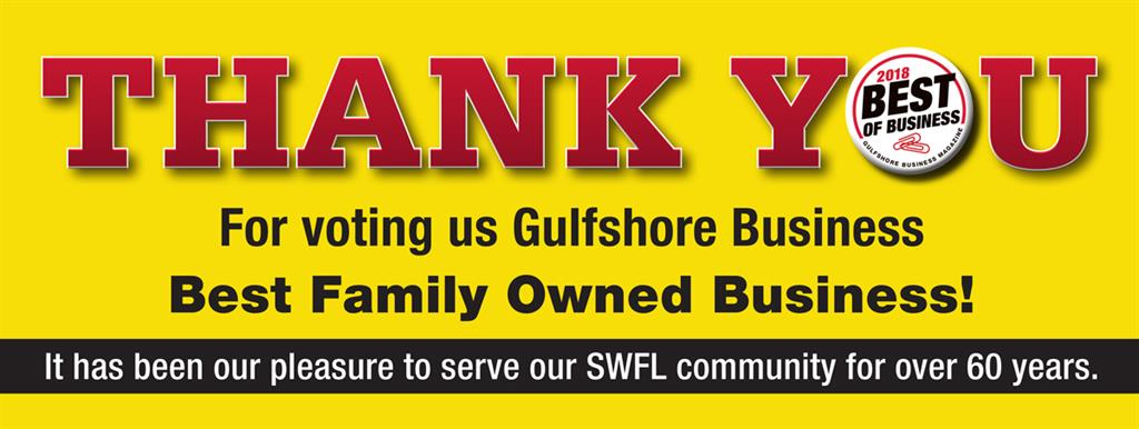 Thank you for voting us Gulfshore Best Family Owned Business