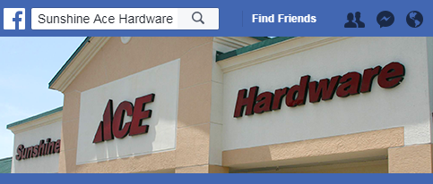 Facebook Link Sunshine Ace Hardware