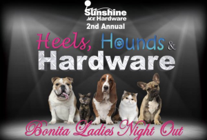 "alt=""Second annual Bonita Ladies Night Out ""Heels, Hounds and Hardware"" Nov. 16, benefiting Brooke's Legacy Animal Rescue"""